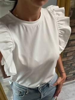 T-shirt Farfalla Ecru